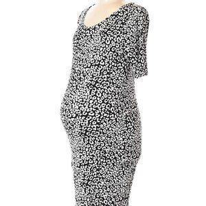 Bump Start Cute Maternity Animal Print Dress